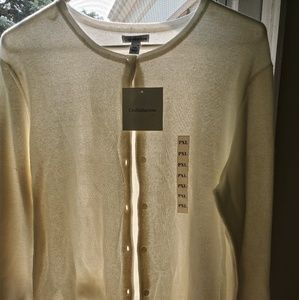 Vanilla color womans cardigan sweater nwt